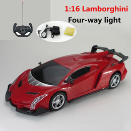 Wholesale Original Cars Diecast - Remote control car ferrari drift car model 1:16 fourpass with front car light children gift toys