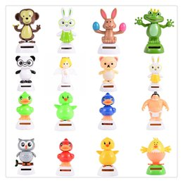 Wholesale Solar Powered Dancing Toys Wholesale - Wedding Solar Powered Santa Snowman Dancing Christmas Decoration CoolCar Dancing Toys Deer Man Car Accessories Solar Energy Toys Free DHL