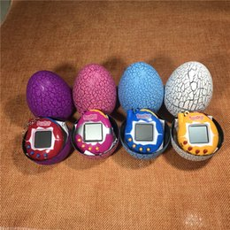 Wholesale Dropshipping Pet - Dropshipping several colors egg dinosaur virtual cyber-digital Pet games toys tamagotchis digital electronic e-animal Christmas gift