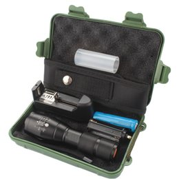 Wholesale Cree Mini Flashlight Wholesale - With box G700 E17 CREE XML T6 3800lm High Power LED Torches Zoomable Tactical LED Mini Flashlights torch with 18650 battery charger