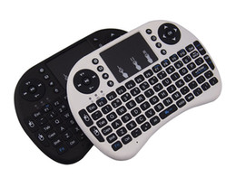Wholesale Tablet Pc 3d Games - Mini Wireless Keyboard Rii i8 2.4GHz Air Mouse Keyboard Remote Control Touchpad For Android Box TV 3D Game Tablet Pc