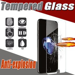 Wholesale Screen Protector Proof - Tempered Glass Screen Protector Film Guard 2.5D 9H Hardness Explosion Proof Premium For iPhone 7 plus 6S SE Samsung S8 S7 edge Note 5