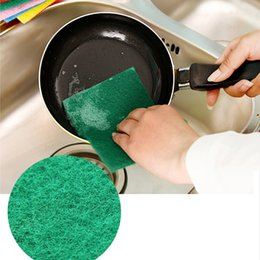 Wholesale Household Dish Cloths - Color scouring pad Brush pot cloth Dish towel, wipe cloth sponge Eraser Kitchen accessories household cleaning tools