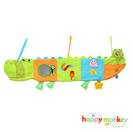 Wholesale Wholesale Fabric For Baby Bedding - Wholesale- Baby Cloth Book Children Kids Educational Toy Soft Fabric Crocodile Animals Bed Bumper Quiet Book For Newborn Babies 0-12 Month