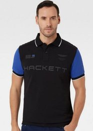 Wholesale London Clothing - 2017 summer fashion casual Short sleeves Hackett POLO shirt men London HKT lapel Polos homme Brand clothing
