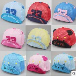 Wholesale Cheap Baby Hats For Girls - Hot Selling Cartoon Cotton Mesh Cap For Baby Kids Hat Light Cute Sun Cap Cheap Hats Children Contrast Cap Kindergarden Hats