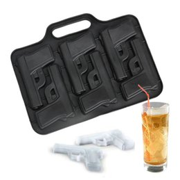 Wholesale Ice Cube Tray Plastic - Party Drink Ice Tray Cool Pistol Style Ice Cube Ice Maker Mould Tool Kitchen Accessories
