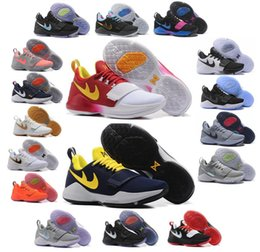 Wholesale Cheap Nylon Lycra Fabric - Zoom Paul George PG1 Mens Basketball Shoes Wholesale Geroge PG 1781 Athletics Sports Shoes Cheap Sneakers Top AAA Quality Size 40-46