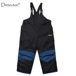 Wholesale Overall Ski - children clothing little boys girls ski pants kids winter bib overalls trousers waterproof toddler kids clothing 1-4 year