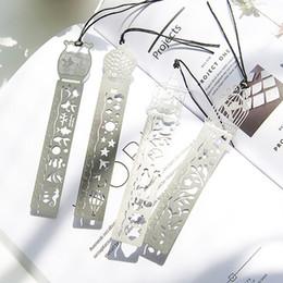 2019 i marmi di vetro liberano il trasporto Righello Segnalibri in metallo studia cancelleria ultra-sottile squisita metallo miniatura segnalibro righello in metallo Creativo bel regalo Segnalibro per i libri