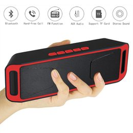 Wholesale Speaker Pc Subwoofer - SC208 Wireless Bluetooth portable Speaker support TF USB FM Radio Bass Sound Subwoofer Speakers Aux handfree for Phone Tablet PC