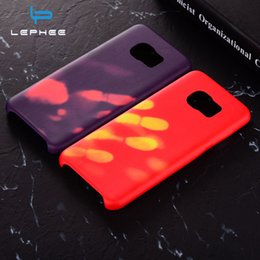 Wholesale Galaxy Change - Thermal Sensor Case for Samsung Galaxy S8 Plus S7 Edge Case Soft TPU Hot Discoloration Changed Color Heat Sensitive Cover Phone Case