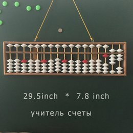 Wholesale Calculator Abacus - Wholesale- Big Size Abacus Chinese Soroban Tool Mathematic Education for Teacher Chinese Calculator Hanging Abacus Soroban Teaching Abacus