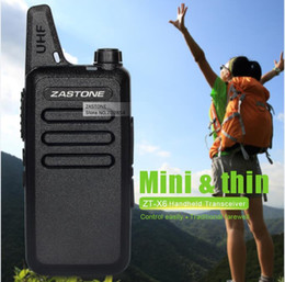 Wholesale Toy Handheld Radio - Zastone ZT-X6 UHF 400-470 MHz 16 CH Mini Walkie Talkie Portable Handheld Transceiver Toy Walkie talkie Ham Radio Gift In Moscow