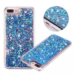 Wholesale Iphone 5s 3d Bling Case - Luxury 3D Quicksand Liquid Case for Apple iphone 5 5S SE 6 6S 7 Plus Transparent Clear Funny Sparkles Glitter Bling Hard Cover