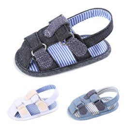 Wholesale Baby Boy Strap Sandals - 2017 New Baby First Walker Shoes Cloth Baby shoes Summer Sandal for Infants S005