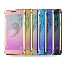 Funda de metal galaxy note edge online-Mirror Flip View Fundas para Galaxy S7 Edge S6 J1 J3 J5 J7 A5 A7 Note 5 Iphone 6S Plus LG V10