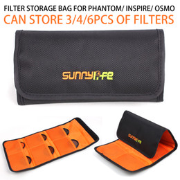 Wholesale Filter Components - Sunnylife Camera Lens Filter Bag MCUV CPL ND Filters Portable Storage Bag for DJI Phantom 3 4 Inspire OSMO X3 X5