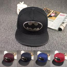 Wholesale Cotton Batting Wholesale - Hot! 2017 Fashion Summer Brand Bat chiropter Baseball Cap Hat For Men Women Casual Bone Hip Hop Snapback Caps Hats