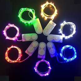 Wholesale White Mini Vases - Wholesale- (10 PCS LOT) Silver wire 20 LEDs mini micro fairy string colorful LED Fairy light for Eiffel vase wedding party battery operated