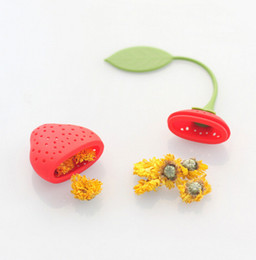 Wholesale Bamboo Green Tea - Silicone Strawberry Tea Strainer Belt Lanyard Family Necessity Tool Easy To Clean Convenient And Quick Bar Tool 1 5fr J