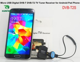 Wholesale Digital Mpeg4 Tv Receiver Usb - Car Micro USB Digital DVB-T DVB-T2 MPEG2 MPEG4 TV Tuner Receiver for Android Phone and Pad KF-V8001