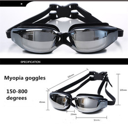 Wholesale Race Hd - Myopia goggles Water Sports Swimming Waterproof HD anti-fog goggles swimming glasses Racing Goggles plating myopia And box packing 426