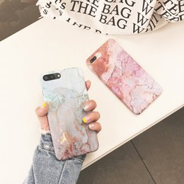 Wholesale Pastel Cases - Pastel Marble Cases for iPhone 7 Case Matte Finish Granite Stone Skin PC Cover for iPhone 7 6s 6 Plus Hard Protective Cases