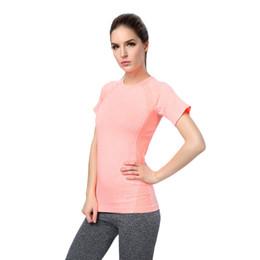 Wholesale Beauty Shorts - Female sports T-shirt fold beauty back fast dry sweat fitness yoga short sleeve