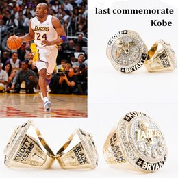 Wholesale Mens Gold Plating Rings - Newest gold basketball ring for fans Collect souvenirs 2016 Present Kobe Bryant with Retirement replica championship mens rings dropshipping