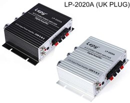 Wholesale Hifi Audio Stereo Amplifier - UK PLUG Lepy LP-2020A 20Hz - 20KHz HiFi Digital Stereo Amplifiers Audio with Over-current Protection and loudspeaker protection