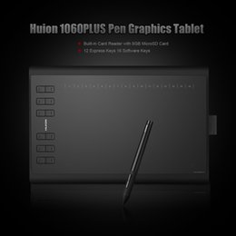 Wholesale Art Graphics Drawing Board - HUION 1060 Plus Art Digital Graphic Drawing Tablet Board Digital Tablet Tableta Grafica Tablet with 8GB MicroSD Card