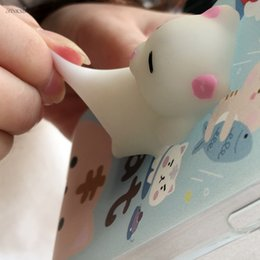 Wholesale Huawei Silicone Case - 3D Cat Squishy Phones Bag Cases for Huawei P8 lite p9 lite p10 lite Cases Capa Soft Squeeze Toys Back Cover Stress Relieve Shell