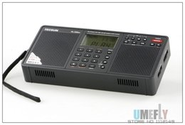 Wholesale Rechargeable Battery D - Wholesale-2015 New Arrival Tecsun PL-398MP Portable Radio fm Stereo has MP3 Playback Function(With SD Card Slot ) Full-band Stereo Radio