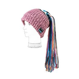 Wholesale Nepal Hats - New Christmas Gifts Four Beautiful colors Bluetooth Wireless Nepal Hats with Corses for Women Listenning and Telephone On Sale