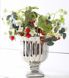 Wholesale Mulberries Flowers - 1PC Vivid Fruit Artificial Flower Fake Acrylic Strawberry Handmade DIY Mulberry For Wedding Home Party Decorative