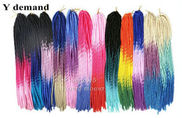 "Wholesale Extension Y - Faux Locs Braids 20"" 100g Softex Crochet Twist Hair Ombre Three Color Soft Dreadlock Hair Dread Braids Darling Synthetic Hair Y demand"