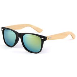 Wholesale Bamboo Wood Sunglasses Men Wholesale - Wholesale- Retro Wooden Sunglasses For Men Women 2017 Summer Ladies Wood Square Glasses Vintage Bamboo Leg Brand Designer Glasses