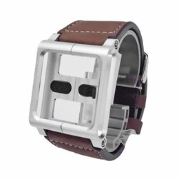 Wholesale Relojes Touch Watch - Wholesale-Leather Watch Band For iPod Nano 6th 6 Generation Multi-Touch Wrist Strap Cover Case Bracelet Pulseira Relojes