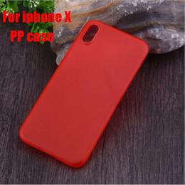 Fundas para teléfonos móviles para iPhone X iphoneX iphonex Ultra-delgada PC Transparente Protección del medio ambiente Material de los PP Funda de protección Shell desde fabricantes