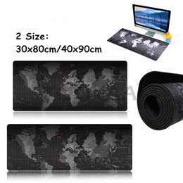 Wholesale Computer Desk Mats - 2 Size Practical World Map Game Mouse Pads Anti-slip Computer Keyboard Mats Laptop Gaming Mousepad Office Desk Mouse Mats
