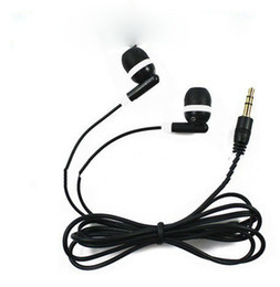 Wholesale Universal Cheapest Black In Ear Earbuds Earphone for iPhone Headphones MP3 MP4 mm Audio DHL FEDEX Free