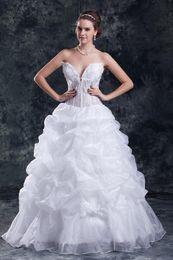 Wholesale Top Designers Mermaid Dresses - Sexy Deep V-neck Wedding Dresses Illusion Top Brial Gown Unique Designer Floor Length Wedding Gown Bride Dress Custom Size Color
