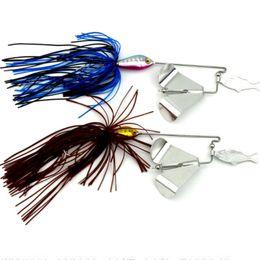 Wholesale Jig Head Skirt - 2PCS Water Series Fishing Lures 16G Skirt Willow Leaf Spinnerbaits Beard Guy Fishing Baits or Hard Metal Baits and Jigging Heads Hooks