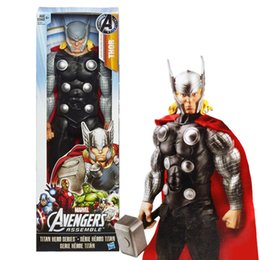 Wholesale Ultimate Models - Ultimate Marvel Avengers Thor Action Figure Brinquedos Collectible Model Toy 30Cm