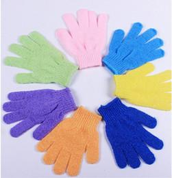 Wholesale Sanitary Gloves - Exfoliating Gloves Skin Body Bath Shower Loofah Sponge Mittens Scrub Massage Spa Bath Finger Gloves