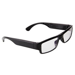 Wholesale Audio Used - 32GB New 5MP 1920x1080P HD Video Glasses Covert Camera Without Pinhole Mini Eyewear DV Portable Camcorder with Audio Function