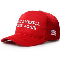 Wholesale Womens Wholesale Fashion America - Make America Great Again Hat Donald Trump Republican Snap back Sports Hats Baseball Caps USA Flag Mens Womens Fashion Cap