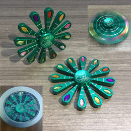 Wholesale Peacock Screen - High quality Spinner Diamond Style Peacock Opens Screen Fidget Spinner Decompression Toy Aluminum Alloy Anxiety Toys Gift Iron box WX-T102