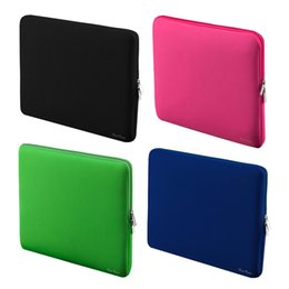 "Wholesale Laptop Cases For Macbook Pro - Laptop Bag Case 11 13 13.3 15 15.6"" inch Portable Zipper Soft Sleeve laptop bags for women Gift MacBook Pro Air 4 Notebook phone"